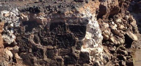 hallazgo antiguo muro muelle comercial arrecife