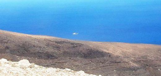 Helicóptero del GES llegando a la zona del incidente.