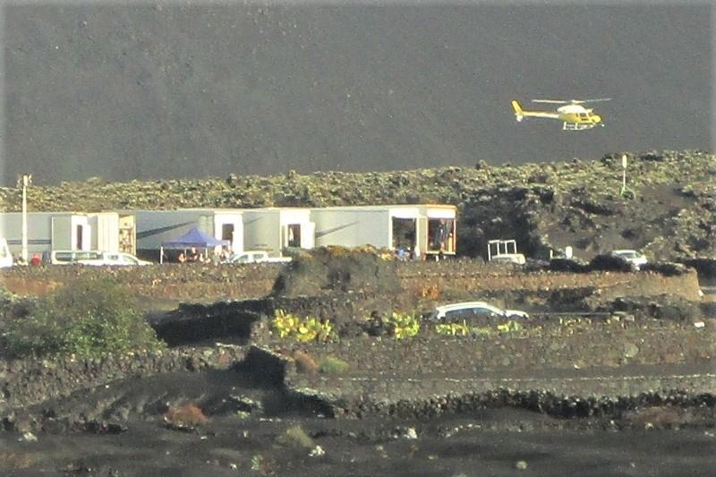 Rodaje de Los Eternos en el Volcán del Cuervo, en Lanzarote.
