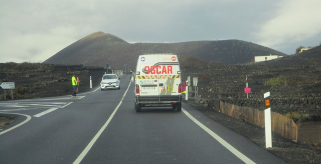 Cortes de tráfico durante el rodaje de Los Eternos en Lanzarote.